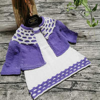 紫烟 德棉宝宝棒针开衫与背心裙套装