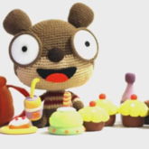 毛线玩偶的定格动画《嘟嘟熊 减肥记》