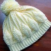親子鉤針帽子(4-1)熱門浮雕葉子花帽子手套編織視頻