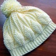 亲子钩针帽子(4-1)热门浮雕叶子花帽子手套编织视频