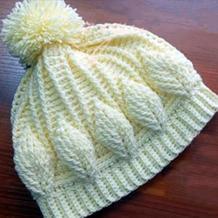 亲子钩针帽子(4-2)热门浮雕叶子花帽子手套编织视频