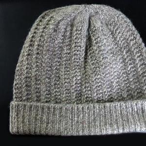 织给外婆的羊绒帽子 经典中老年棒针毛线帽