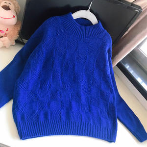 儒格 送外甥的超简格子儿童棒针打底毛衣