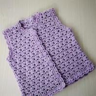 紫丁香 云朵宝宝钩针马甲背心
