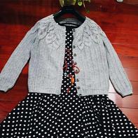 秋实 从领口往下织女士棒针羊绒开衫