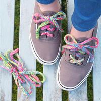 编织鞋饰之钩编一款花式鞋带
