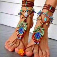 夏天钩织一款漂亮脚饰 让我们美丽到脚