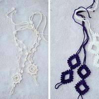 编织美不忘纤纤玉足 创意编织钩针蕾丝脚饰2款