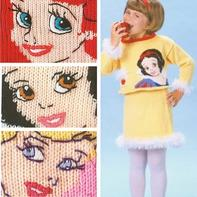 迪士尼公主系列儿童卡通毛衣图案