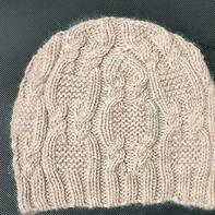 冬至 仿淘宝棒针扭花毛线帽子