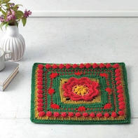 不同色彩不同风格 彩色毛线编织创意座垫及包包