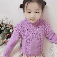 非常实用的从上往下织的宝宝棒针圆肩毛衣