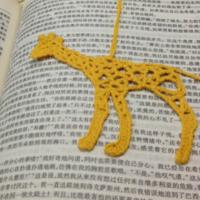手工钩针多款小动物造型书签