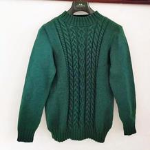 暮秋 送妈妈的棒针麻花套头毛衣