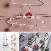 創意毛線平安彩票官方開獎網裝飾 可以進行纏繞的串串花飾