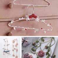 创意毛线编织装饰 可以进行缠绕的串串花饰