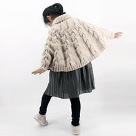 儿童棒针蝙蝠衫斗篷毛衣编织视频教程