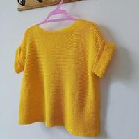 暖暖 结构织法都特别简单的女士棒针短袖套衫