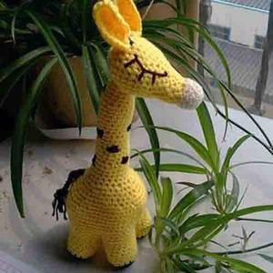 萌可爱钩针长颈鹿玩偶编织图解