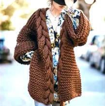 粗针粗线女士棒针麻花门襟外套开衫编织视频