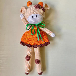 爱心编织喵夫人火鸡棉钩针人形玩偶小鹿