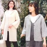 同款两织女士葡京彩票正版注册粗针粗线连帽开衫