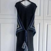 风筝 非常有设计感的特色亮点女士钩针背心长裙