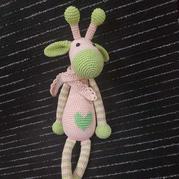 公益编织钩针爱心长颈鹿玩偶