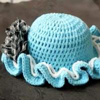 太阳帽子 宝宝帽子  完美叶子编织视频教程