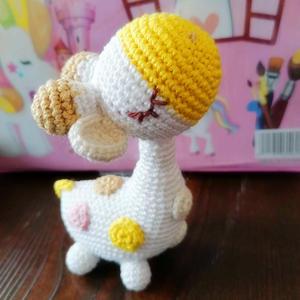 仰天鹿 毛线编织钩针长颈鹿玩偶