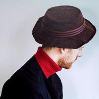 街头时尚男款钩针圆边礼帽编织图解