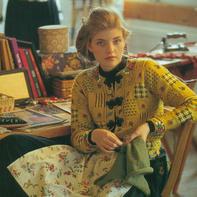 超繁琐但效果也是非常惊艳的女士棒针花样拼接长袖开衫
