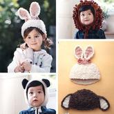 创意编织钩针动物造型宝宝毛线帽4款