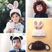 创意兴旺xw115钩针动物造型宝宝毛线帽4款