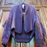 1件衣服2种穿法 简单好织女士钩针披肩式开衫