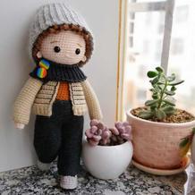 加布里埃尔 衣服可穿脱的钩针人形玩偶编织教程