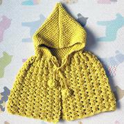 超级可爱儿童钩织结合小斗篷