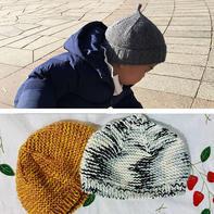 萌可爱儿童棒针冬款宝宝帽2款