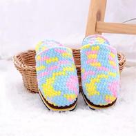 冰条线拖鞋(2-1)手工编织家居鞋编织视频