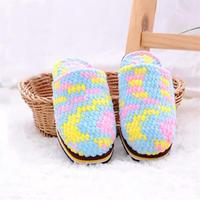 冰条线拖鞋(2-2)手工编织家居鞋编织视频