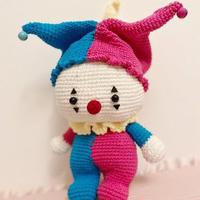 萌萌的幻彩小丑弟弟 钩针小丑玩偶编织图解