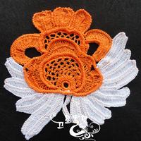 包夹棉芯的爱尔兰花《如意》的钩织图解教程