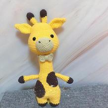 神气的长颈鹿先生 钩针鹿玩偶编织图解