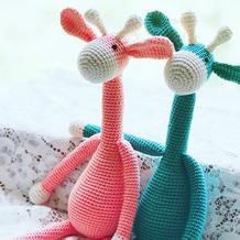 公益活动爱心编织钩针长颈鹿
