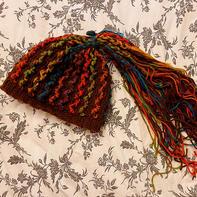 改版嘻哈风女士钩针脏辫帽及段染手套