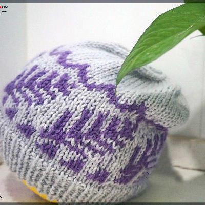 森林 冬款棒针提花帽子