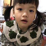 甜美儿童棒针刺绣假领