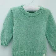 媛媛 基本款儿童棒针羊绒毛衣