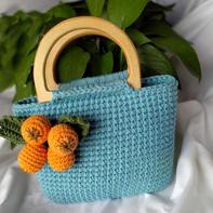 枇杷手提包(2-2)创意毛线钩针包包编织视频教程