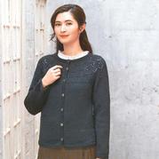 自下而上兴旺xw115的女士棒针圆领开衫毛衣